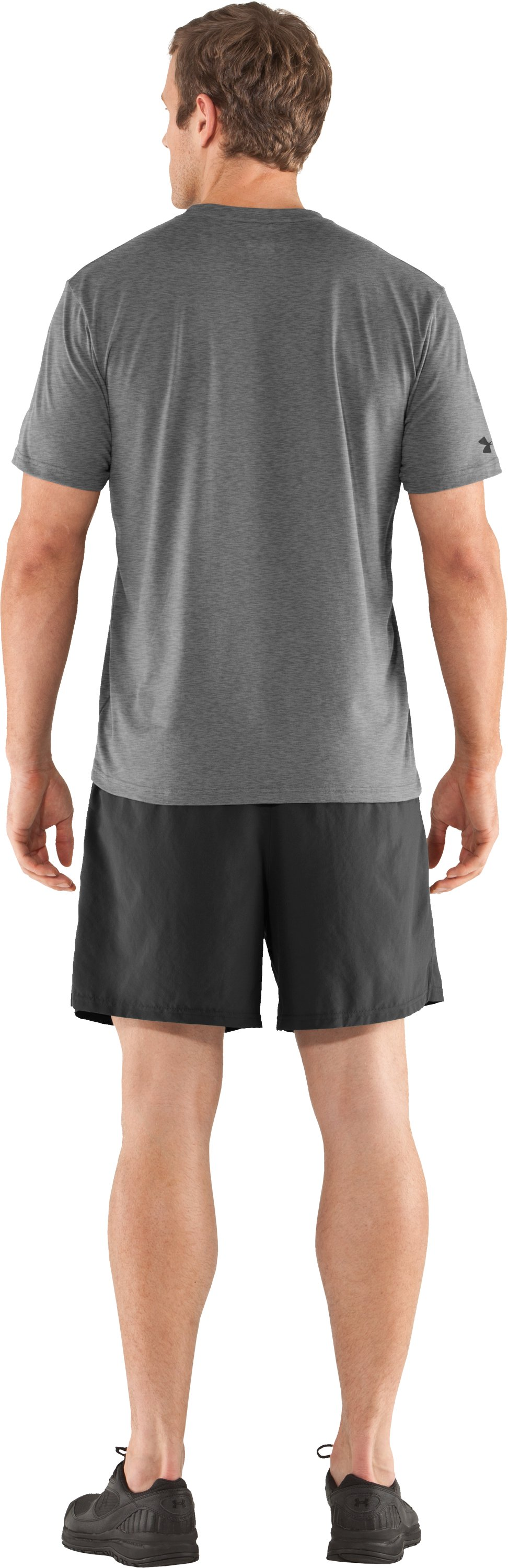 Men's UA Vertmark T-Shirt, True Gray Heather, Back