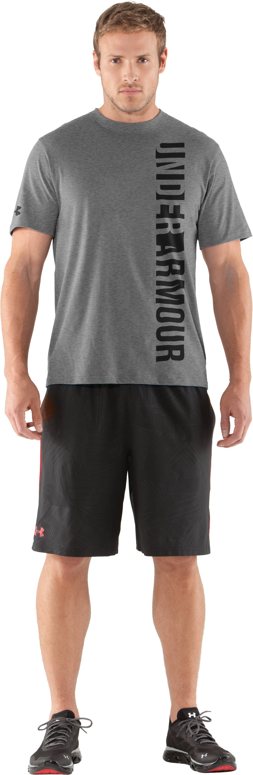Men's UA Vertmark T-Shirt, True Gray Heather, Front