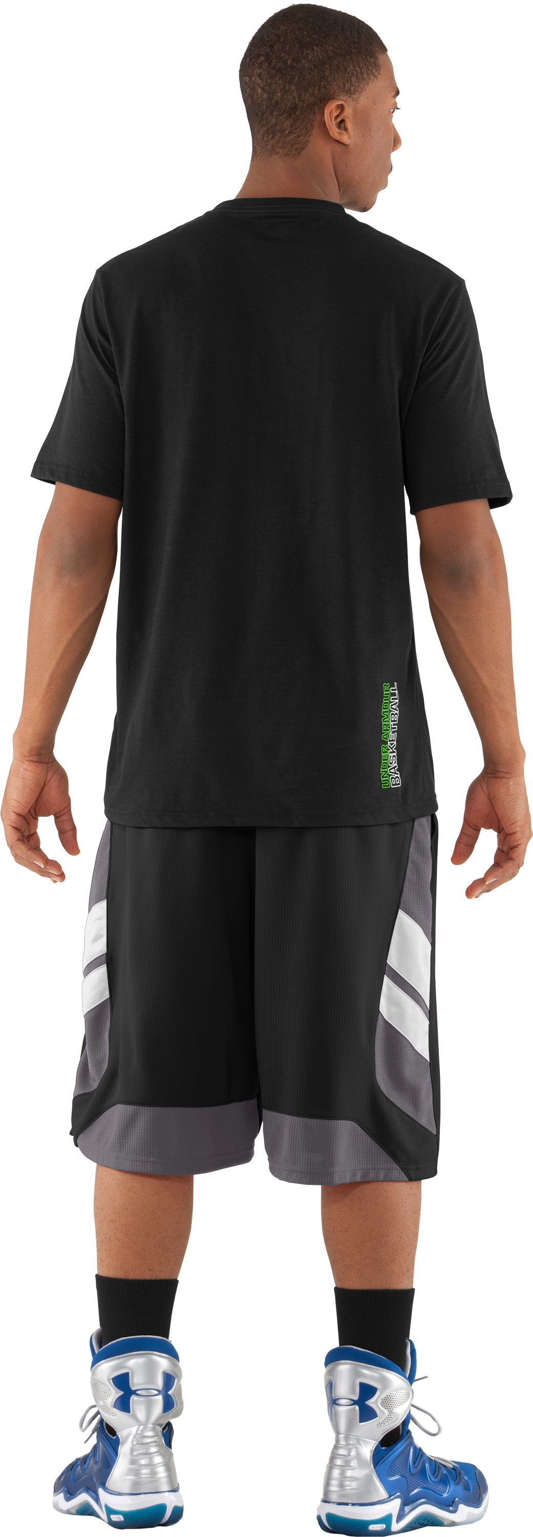 Men's UA Shot Clock T-Shirt, Black , Back