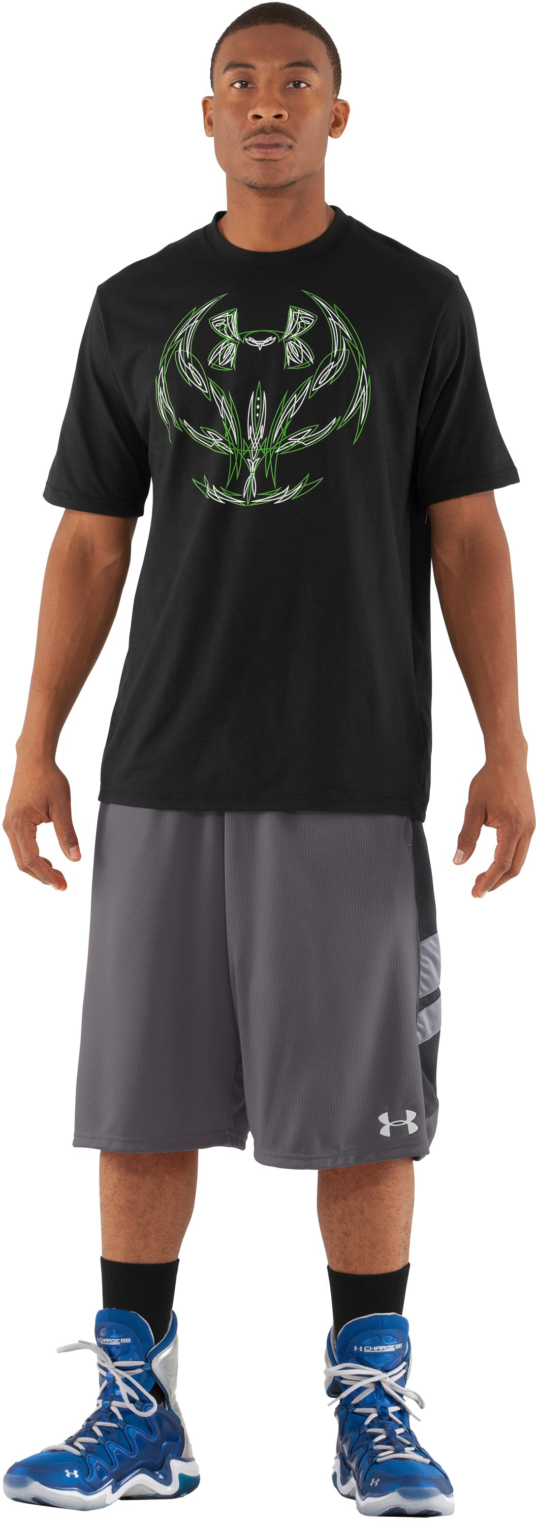 Men's UA Shot Clock T-Shirt, Black , Front