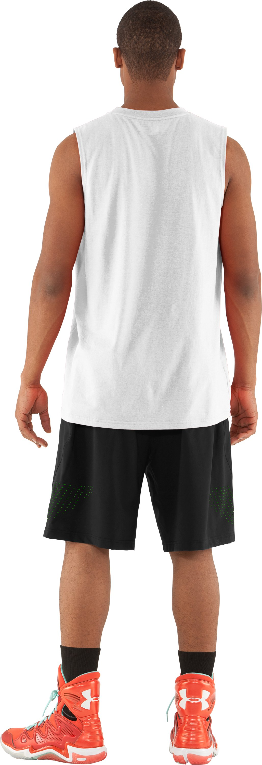 Men's UA Baller Sleeveless T-Shirt, White, Back