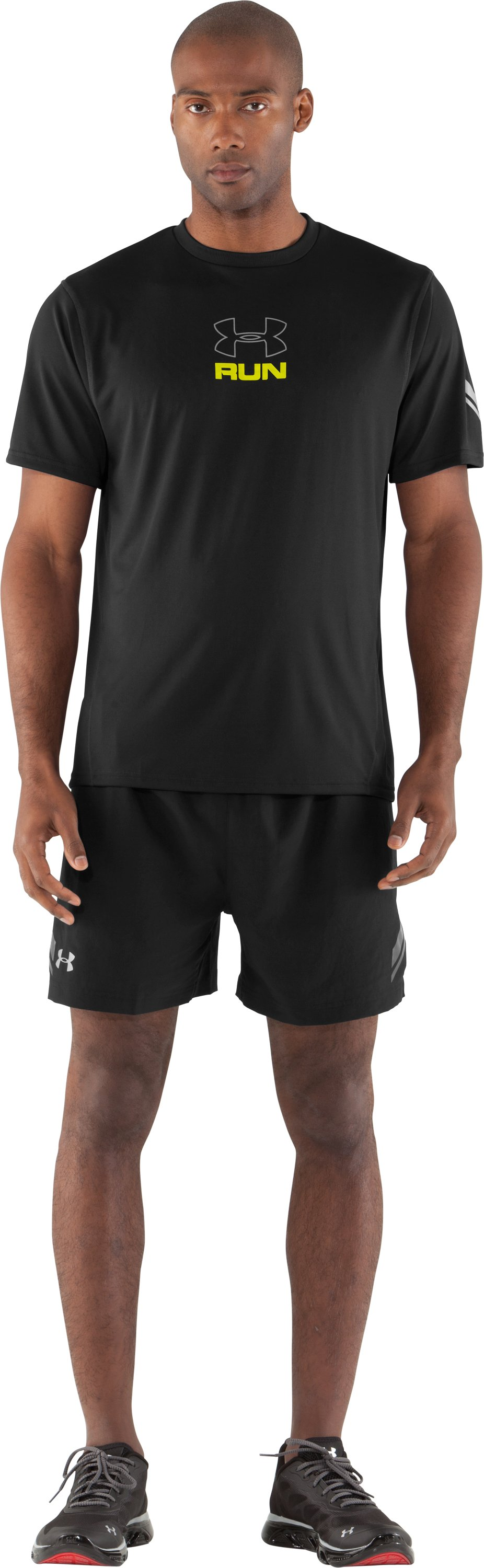 Men's UA Escape T-Shirt, Black , Front
