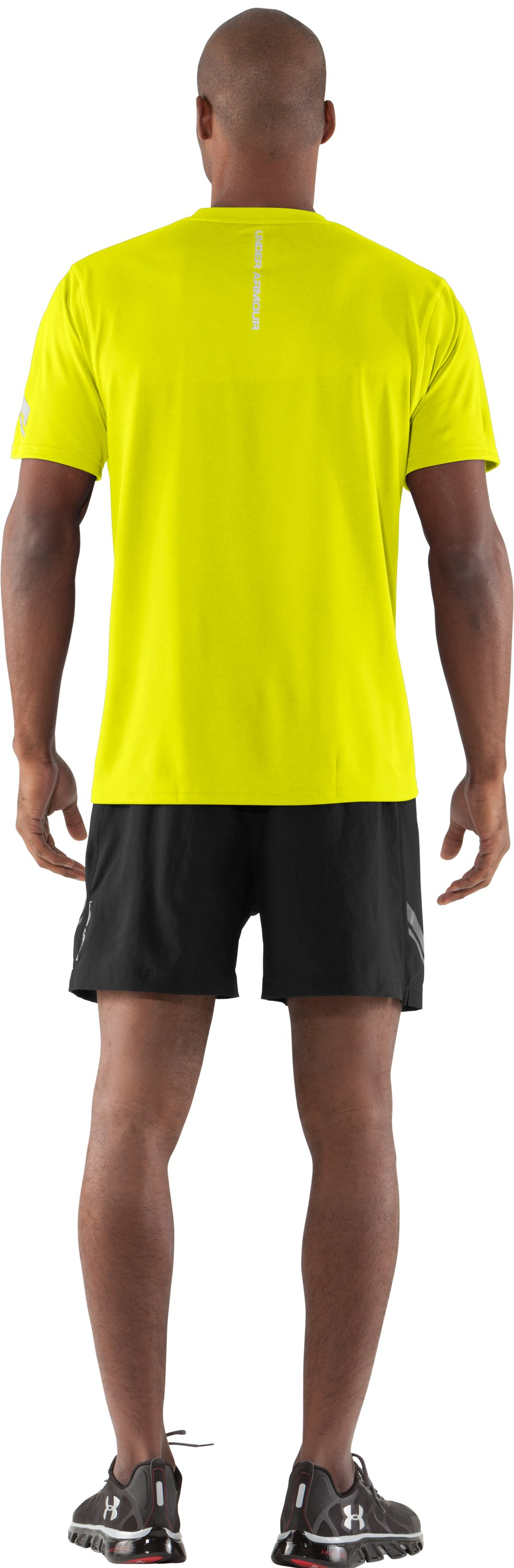 Men's UA Escape T-Shirt, High-Vis Yellow, Back