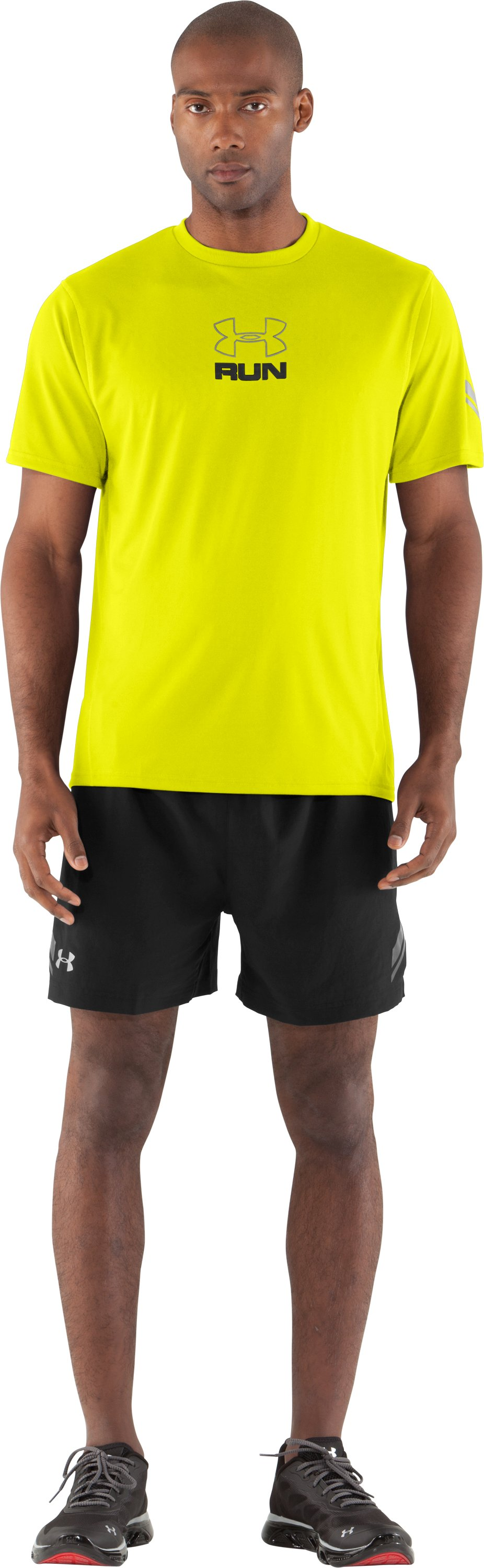 Men's UA Escape T-Shirt, High-Vis Yellow, Front