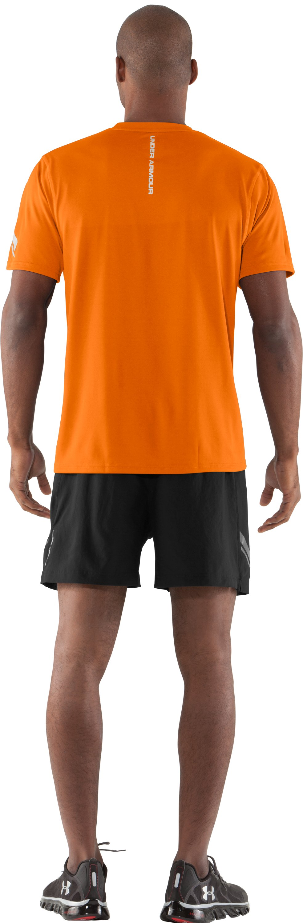 Men's UA Escape T-Shirt, Blaze Orange, Back