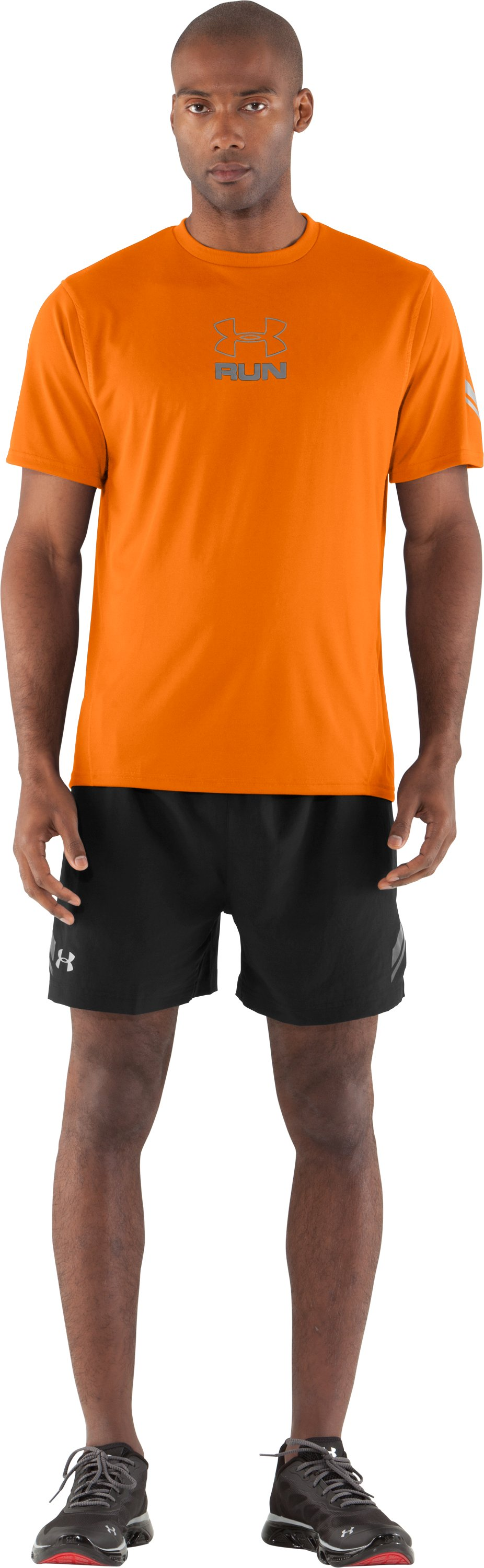Men's UA Escape T-Shirt, Blaze Orange, Front