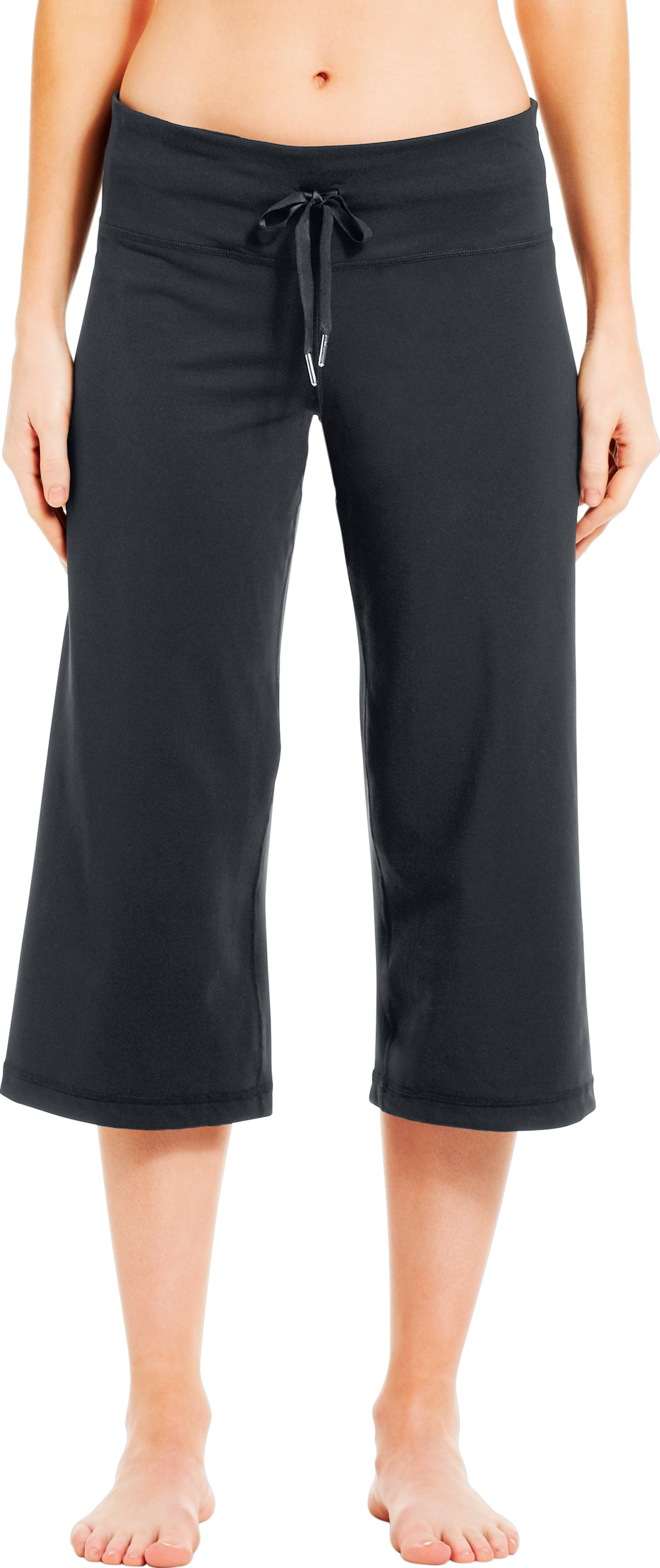Women's UA Perfect Flow Capri, ANTHRACITE, zoomed image