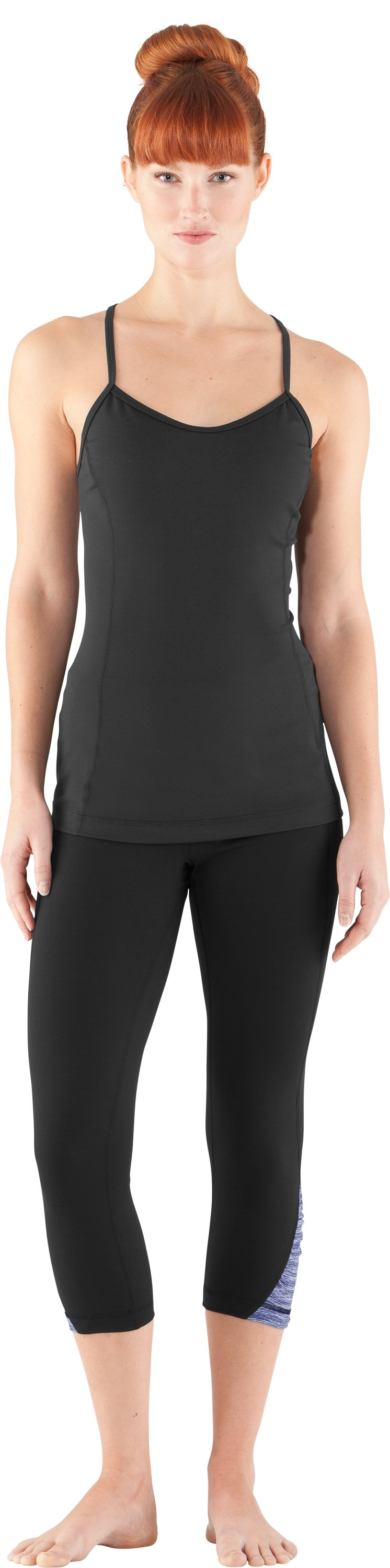 Women's Gather N' Give Capri, Black , Front