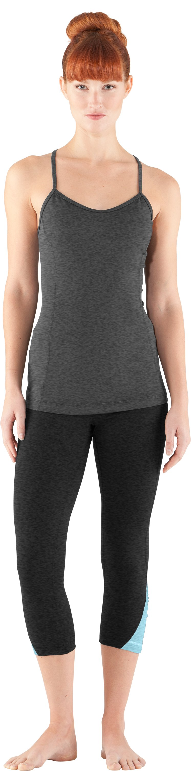 Women's Gather N' Give Capri, Asphalt Heather, Front
