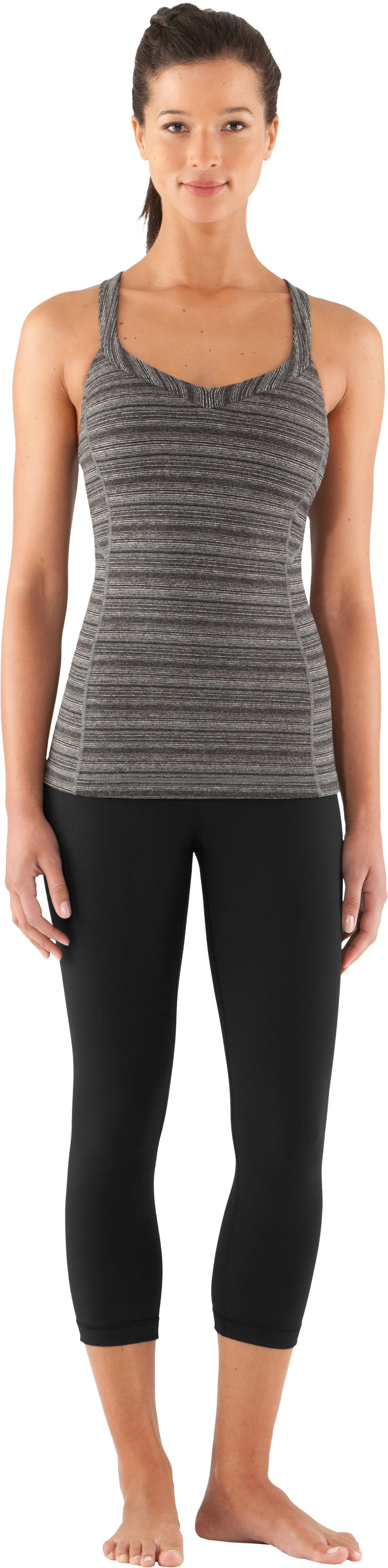 Women's UA Inner Intensity Tank, Black , Front