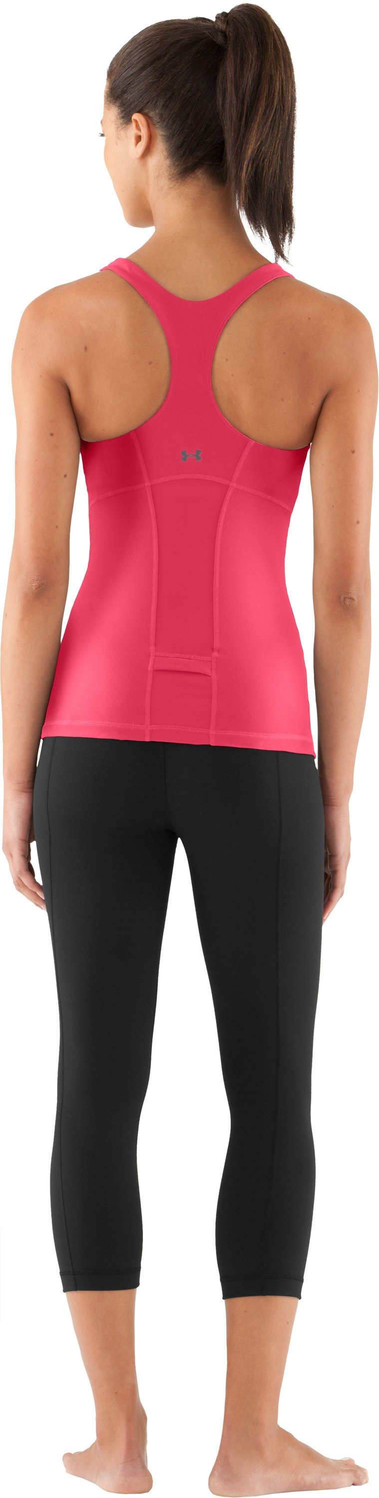 Women's UA Inner Intensity Tank, Hibiscus, Back