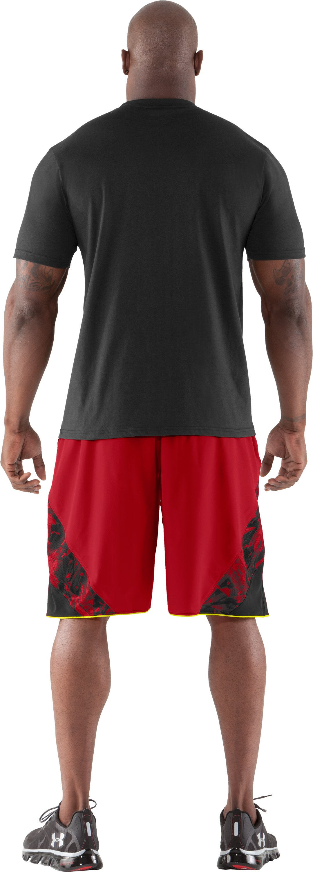 Men's NFL Combine Authentic Explosion T-Shirt, Black , Back