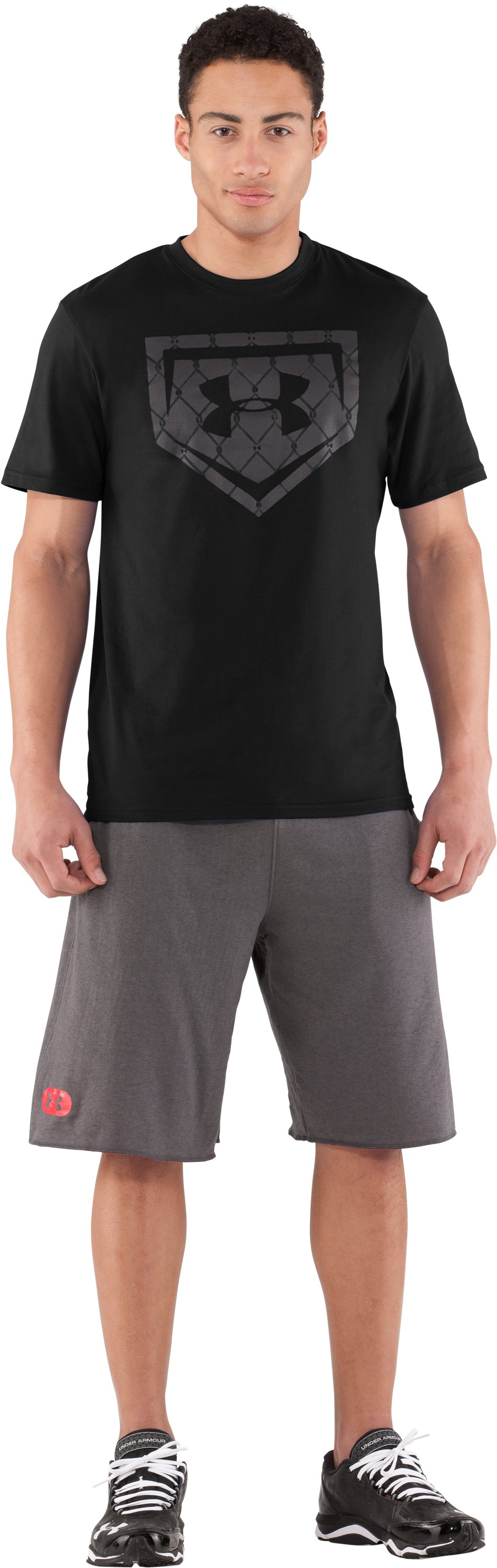 Men's UA Chain Link Icon T-Shirt, Black , zoomed image