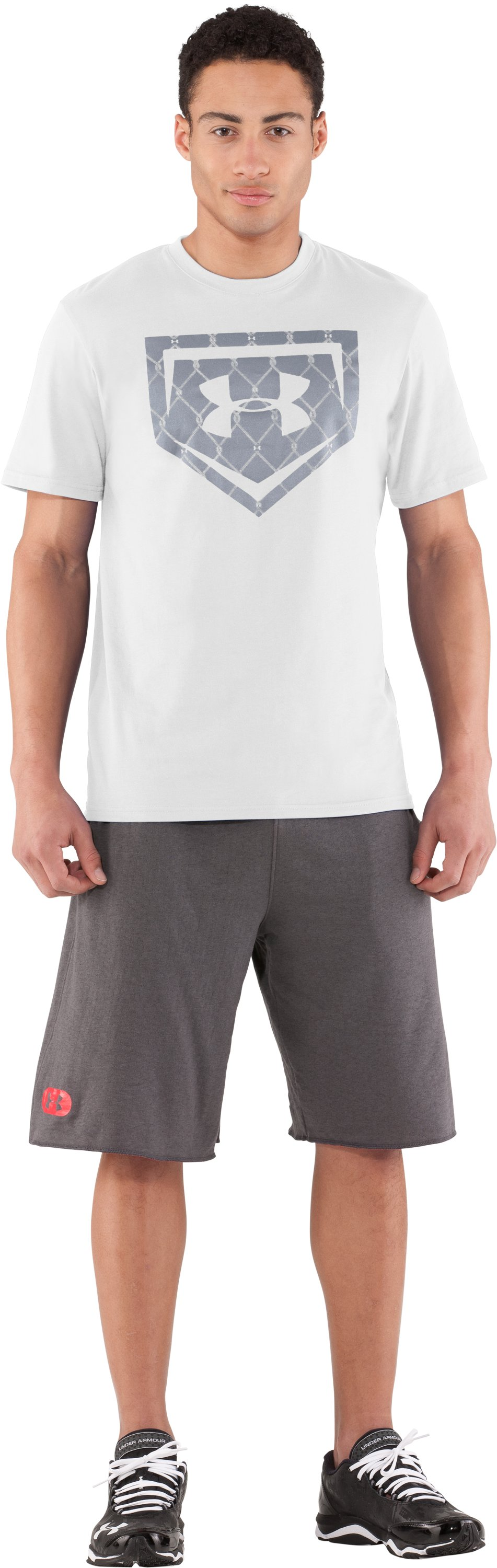 Men's UA Chain Link Icon T-Shirt, White, zoomed image