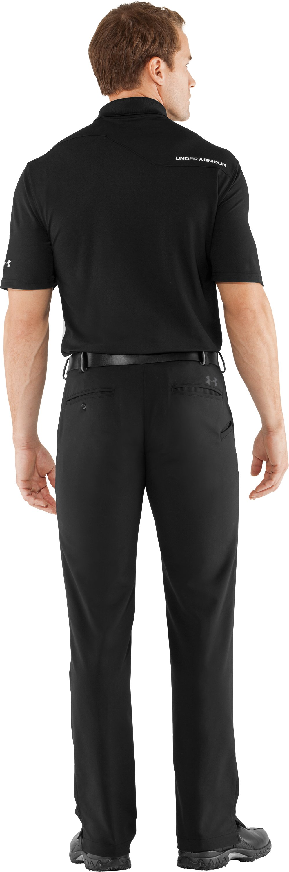 Men's UA Bent Grass 2.0 Pants, Black , Back