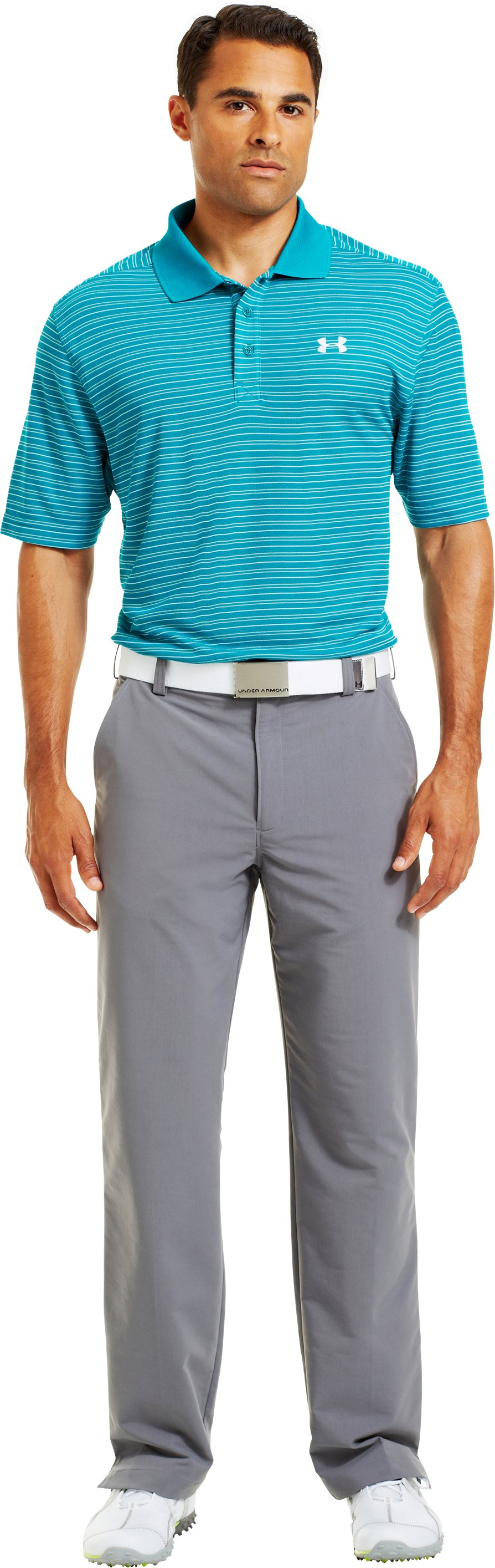 Men's UA Draw Stripe Pique Polo 3.0, CERULEAN, zoomed image