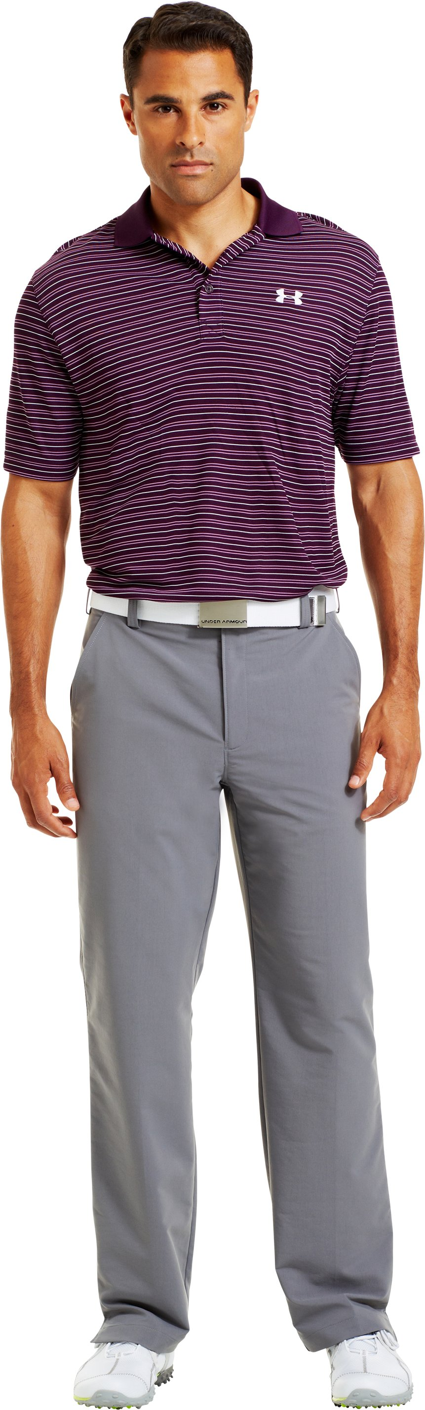 Men's UA Draw Stripe Pique Polo 3.0, Echo, zoomed image