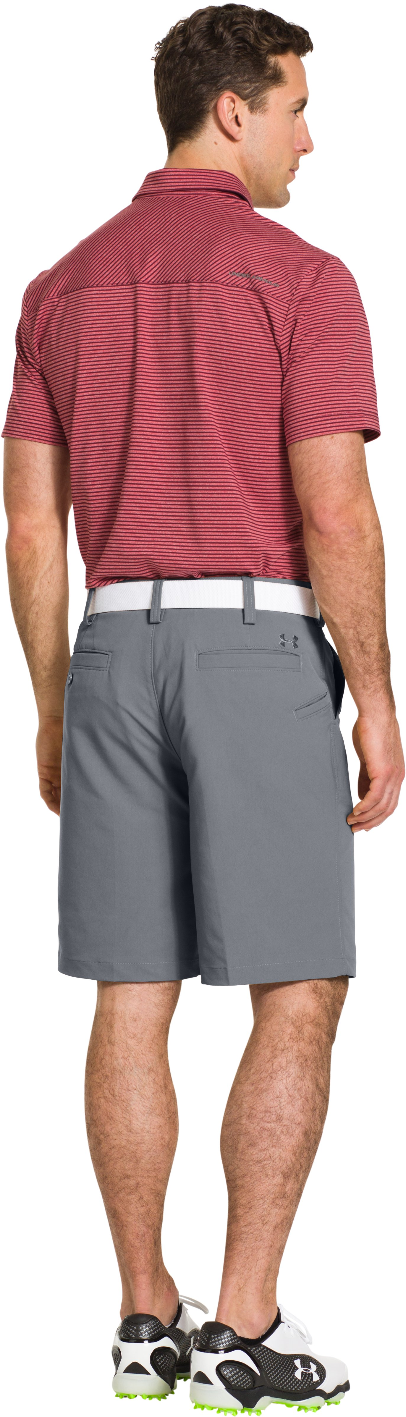 Men's UA Bent Grass Golf Shorts, Steel, Back