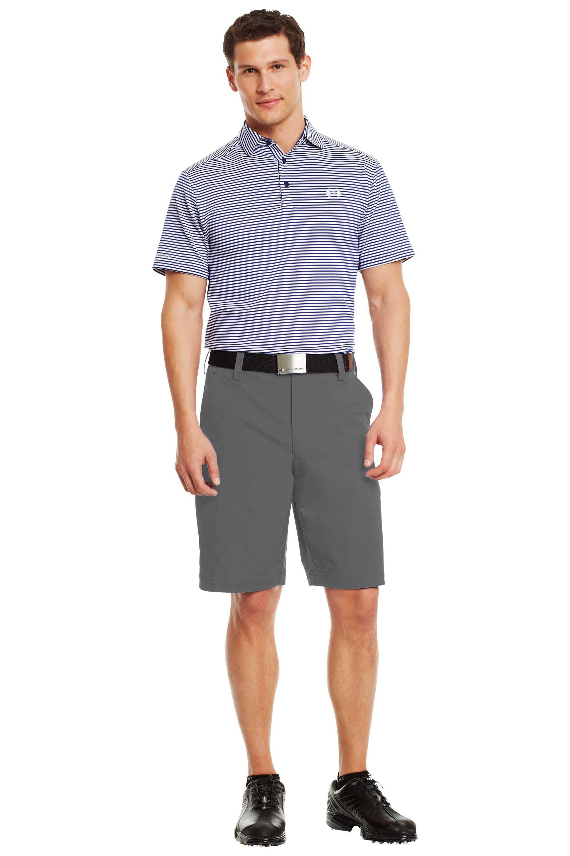 Men's UA Bent Grass Golf Shorts, Graphite, zoomed image