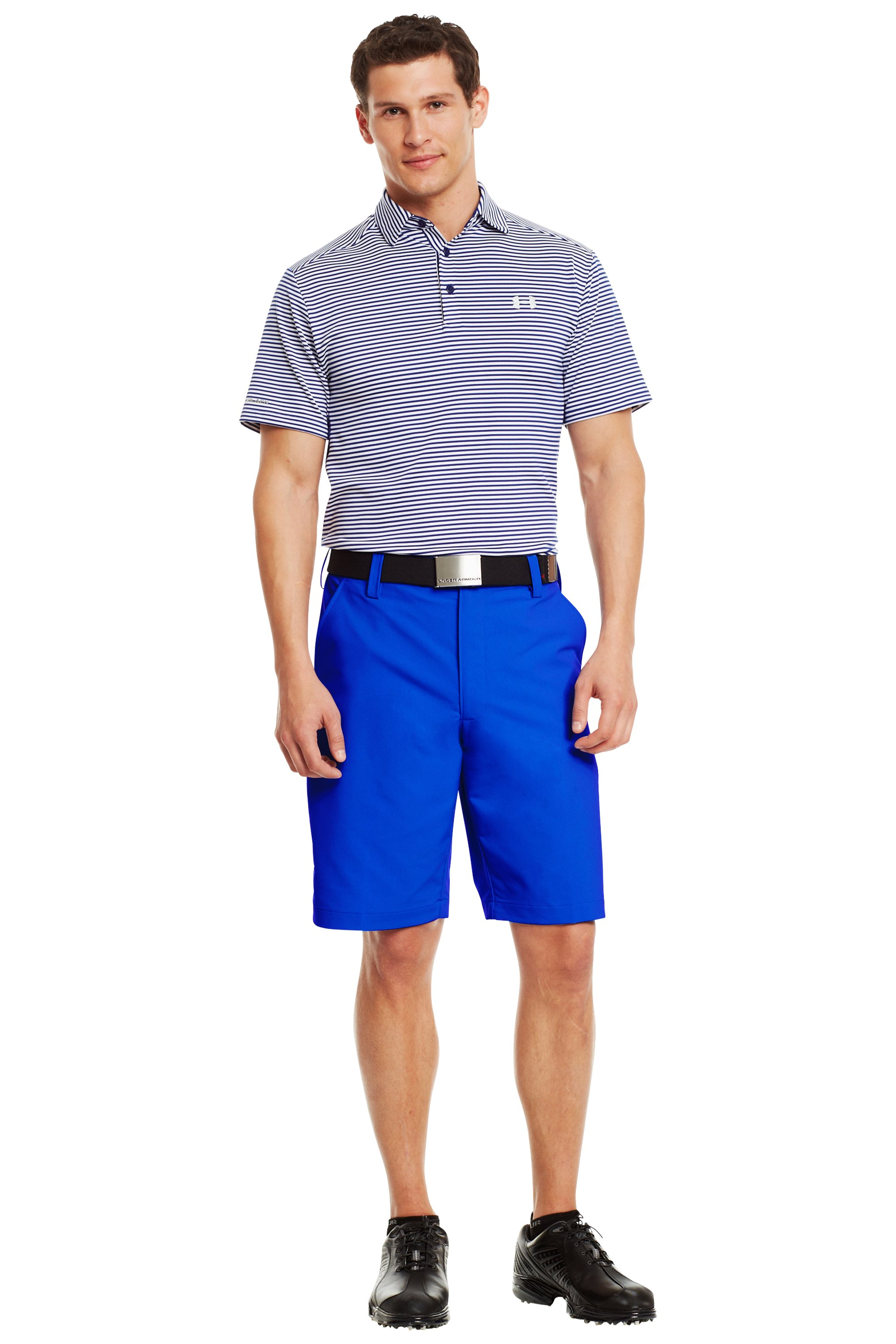 Men's UA Bent Grass Golf Shorts, Moon Shadow, Front