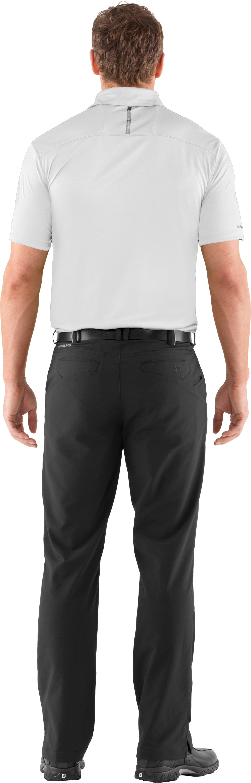Men's coldblack® Player Polo, White, Back