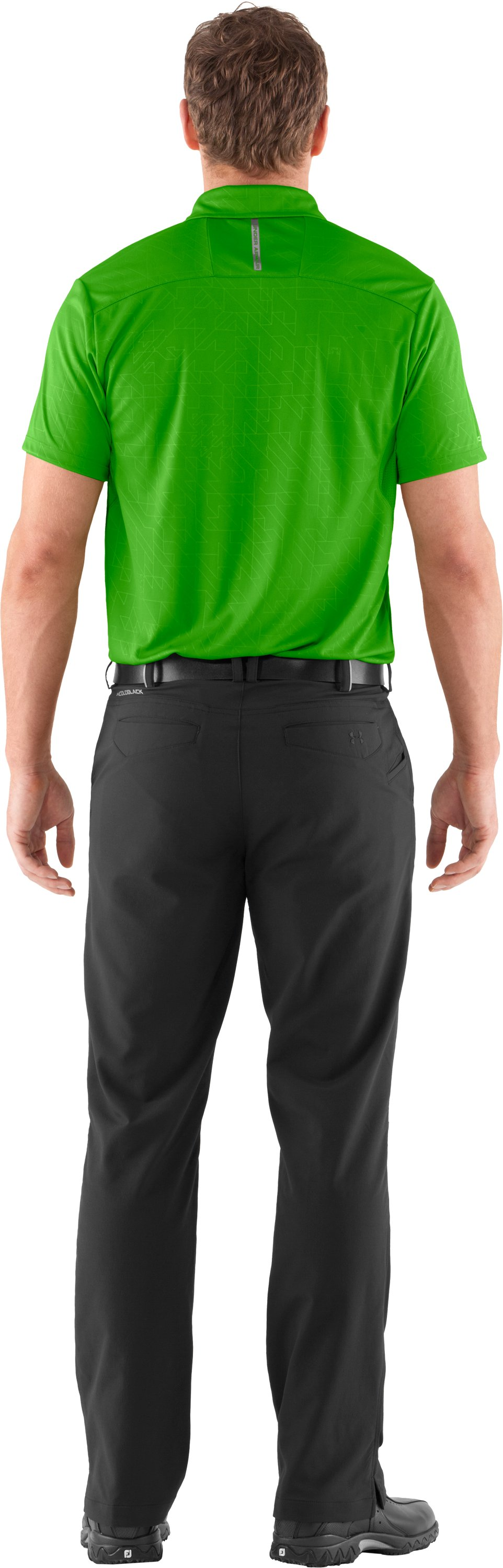 Men's coldblack® Player Polo, PARROT GREEN, Back