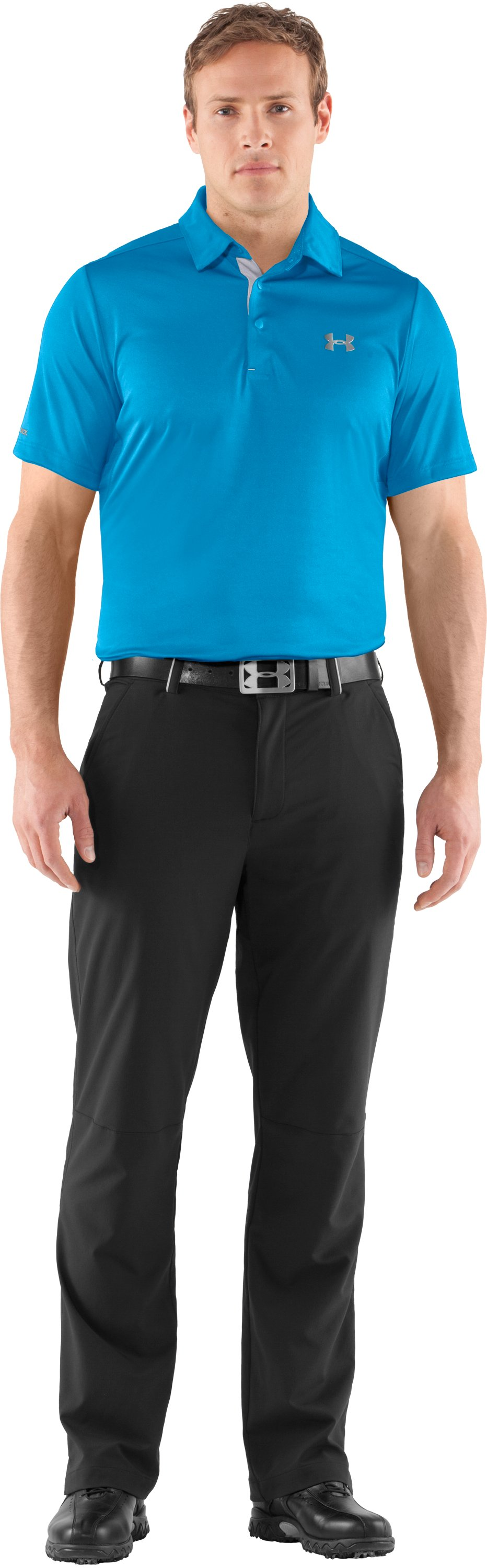 Men's coldblack® Player Polo, Cortez, Front