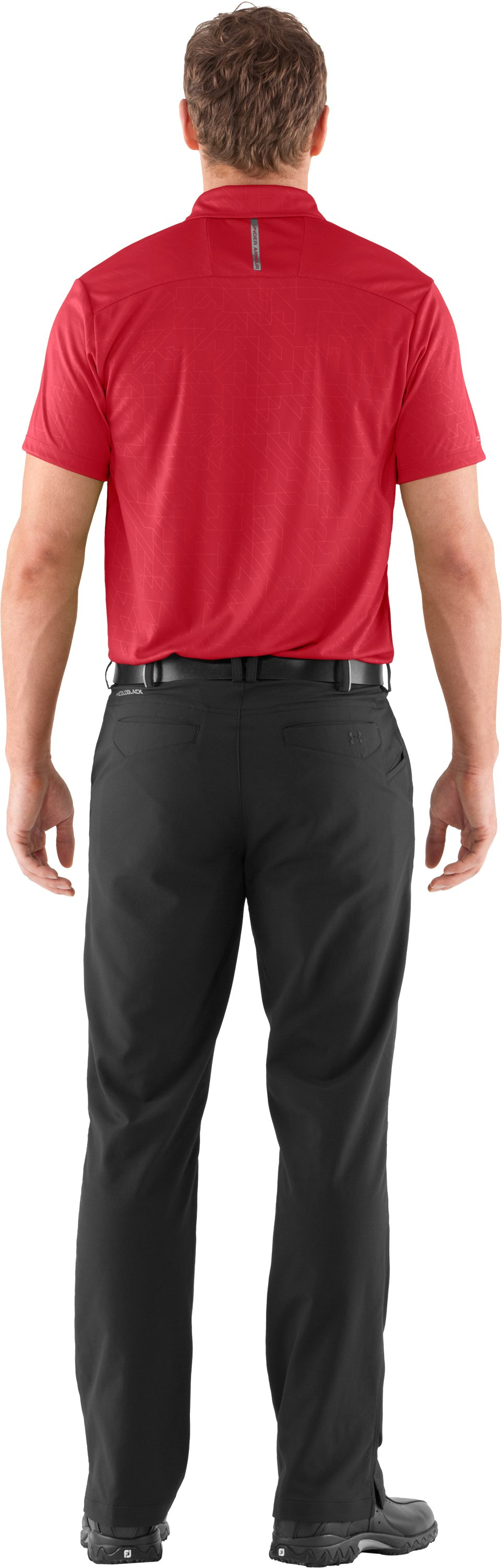 Men's coldblack® Player Polo, Red, Back