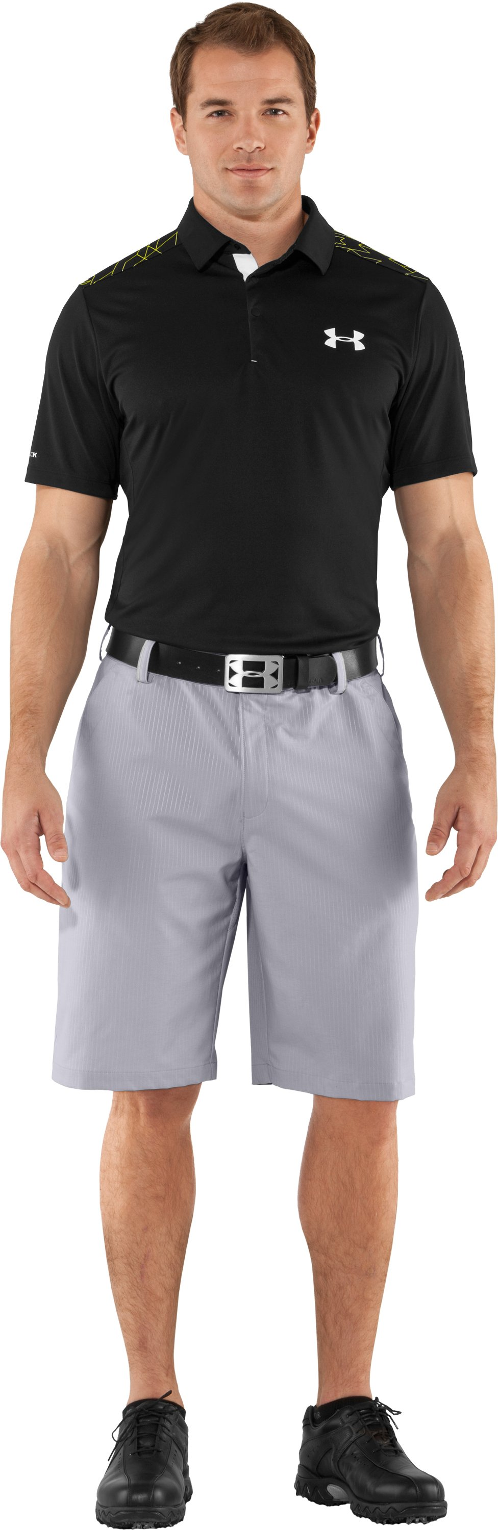 Men's coldblack® Embossed Shorts, Aluminum, zoomed image
