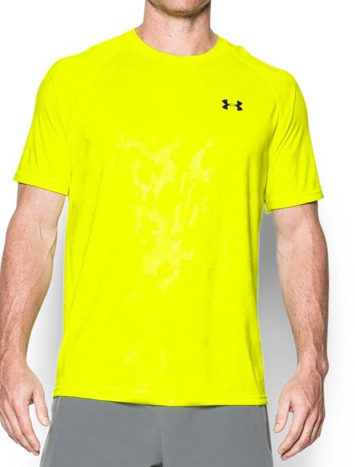 Under Armour Men/'s UA Tech Sportstyle T-Shirt Neon Yellow//Black 3XL