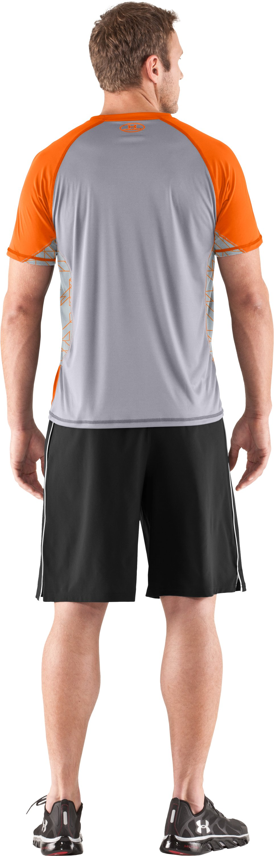 Men's HeatGear® Flyweight Short Sleeve, Vivid, Back