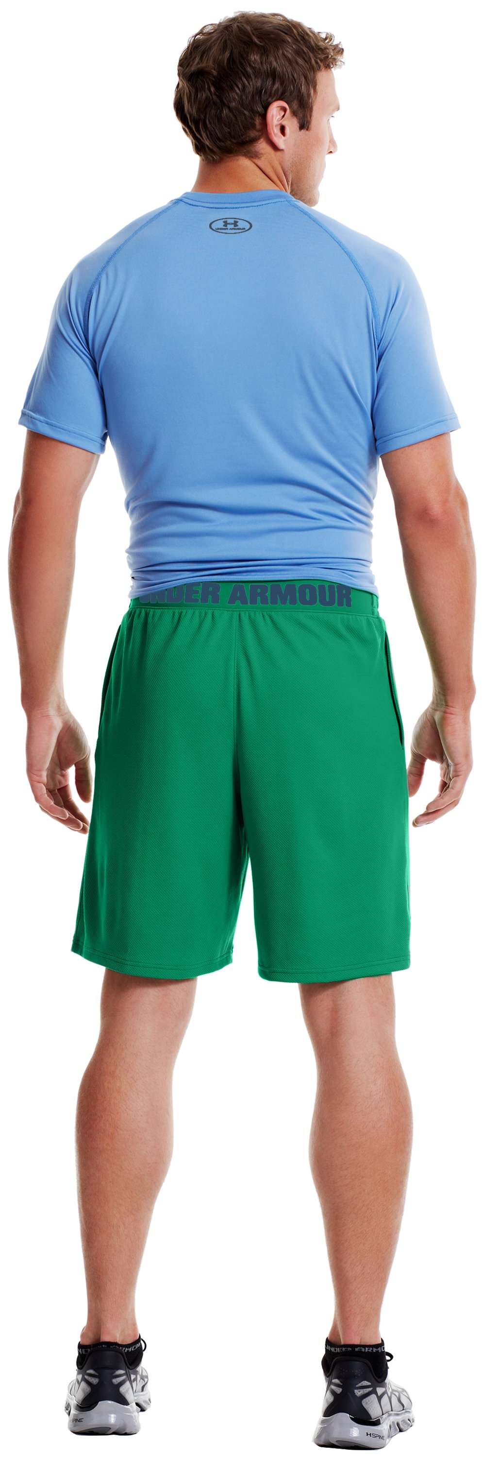 Men's UA Reflex Shorts, ASTRO GREEN, Back