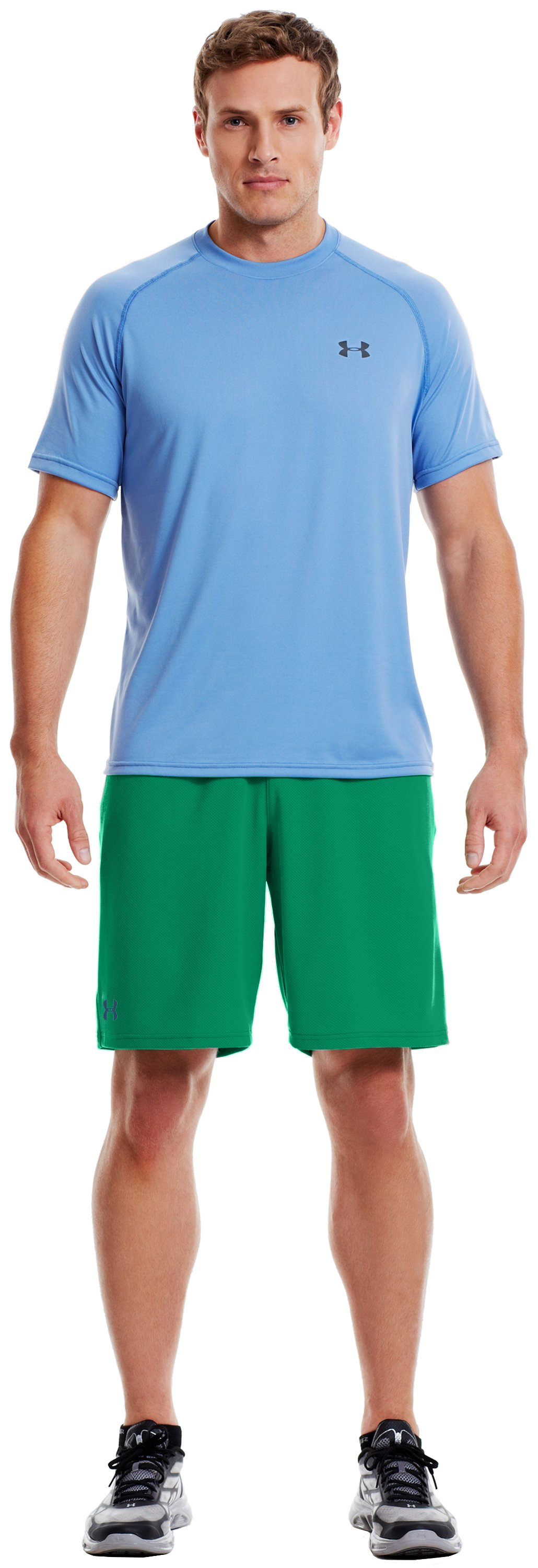 Men's UA Reflex Shorts, ASTRO GREEN, Front