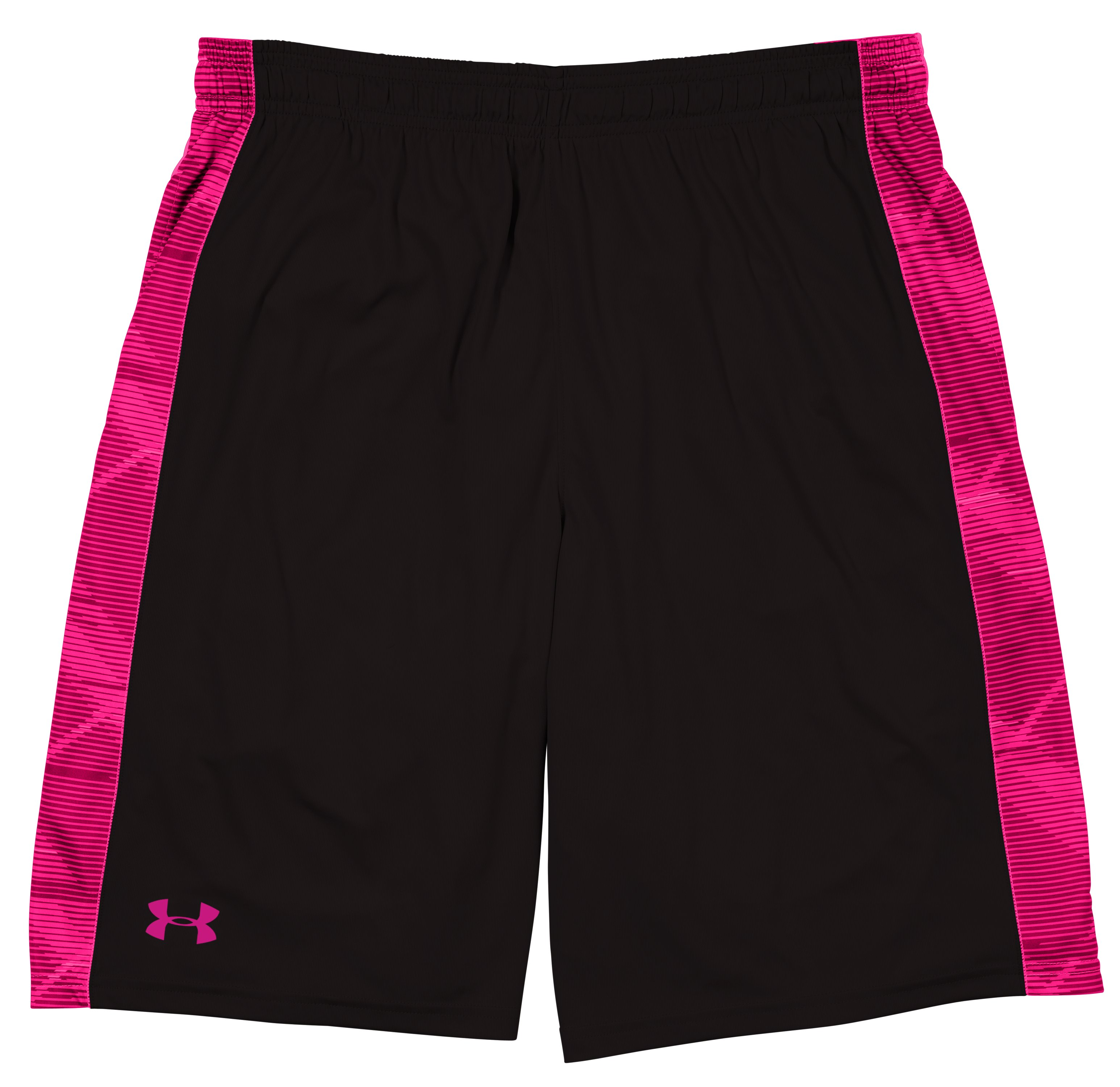 Men's UA Micro Printed Shorts, Black , Laydown