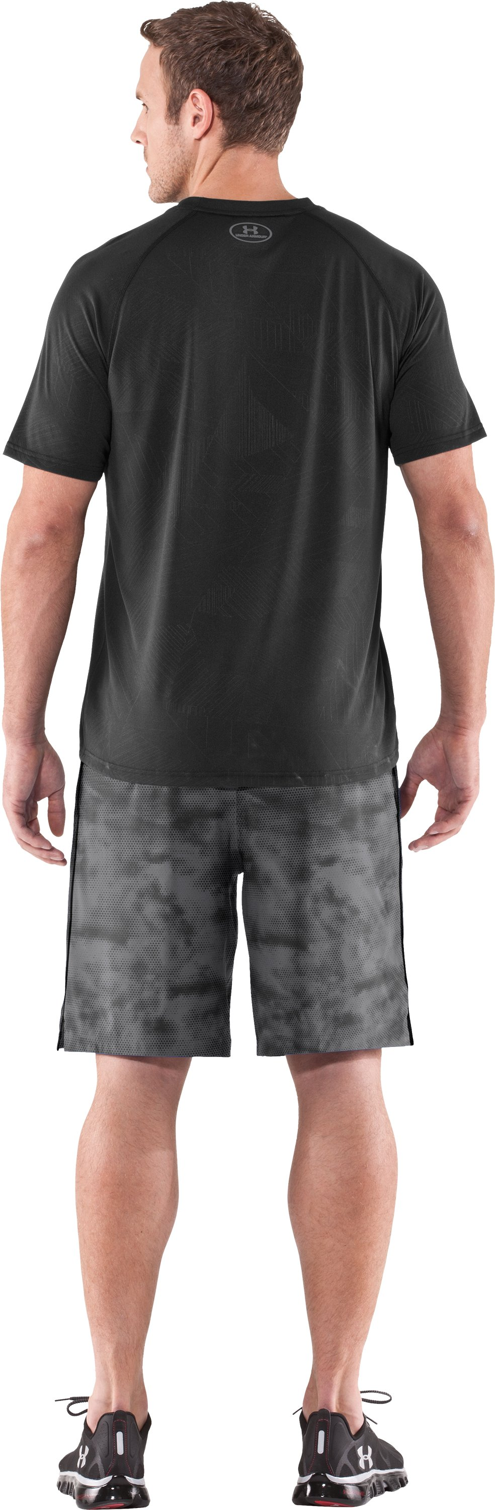 Men's UA Micro Printed Shorts, Graphite, Back