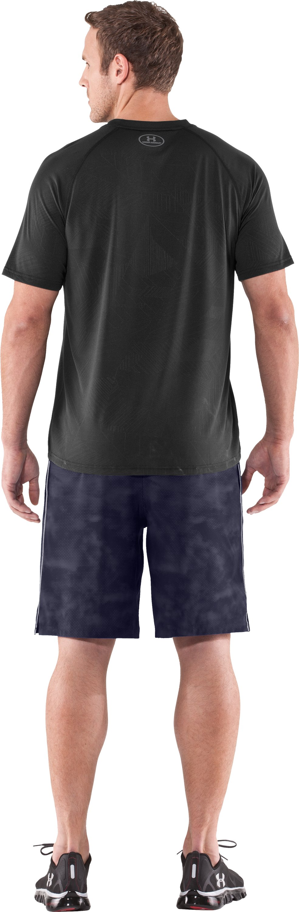 Men's UA Micro Printed Shorts, Midnight Navy, Back