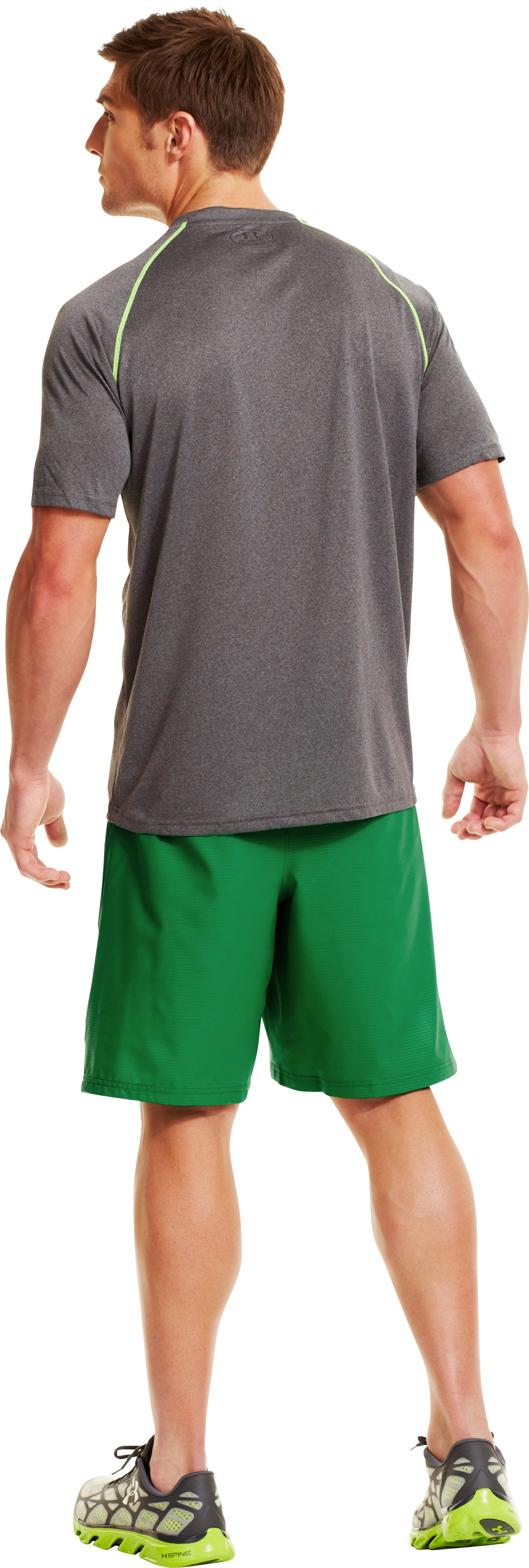 "Men's UA Mirage Printed 10"" Shorts, ASTRO GREEN, Back"