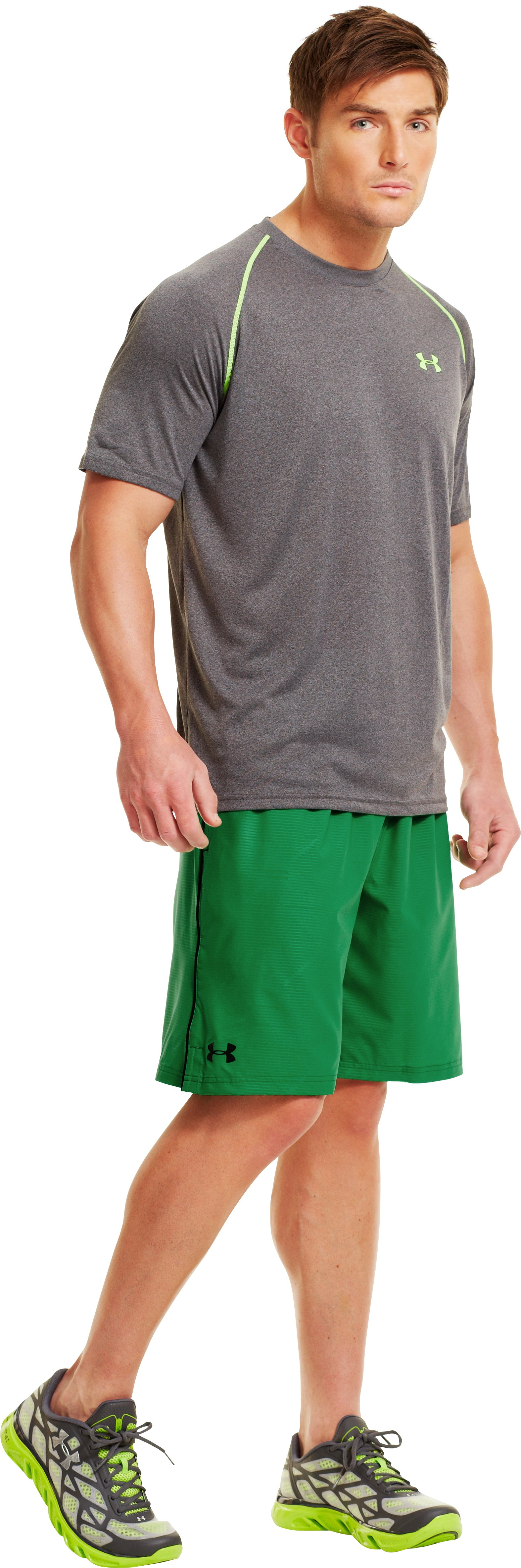 "Men's UA Mirage Printed 10"" Shorts, ASTRO GREEN"