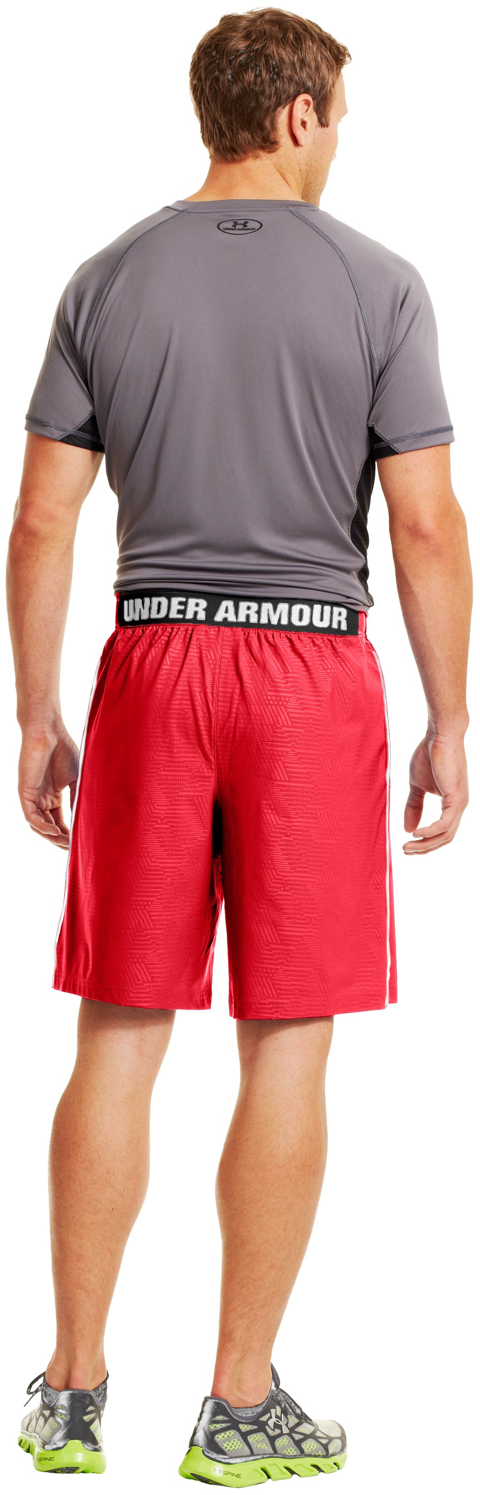 "Men's UA Mirage Printed 10"" Shorts, Red, Back"