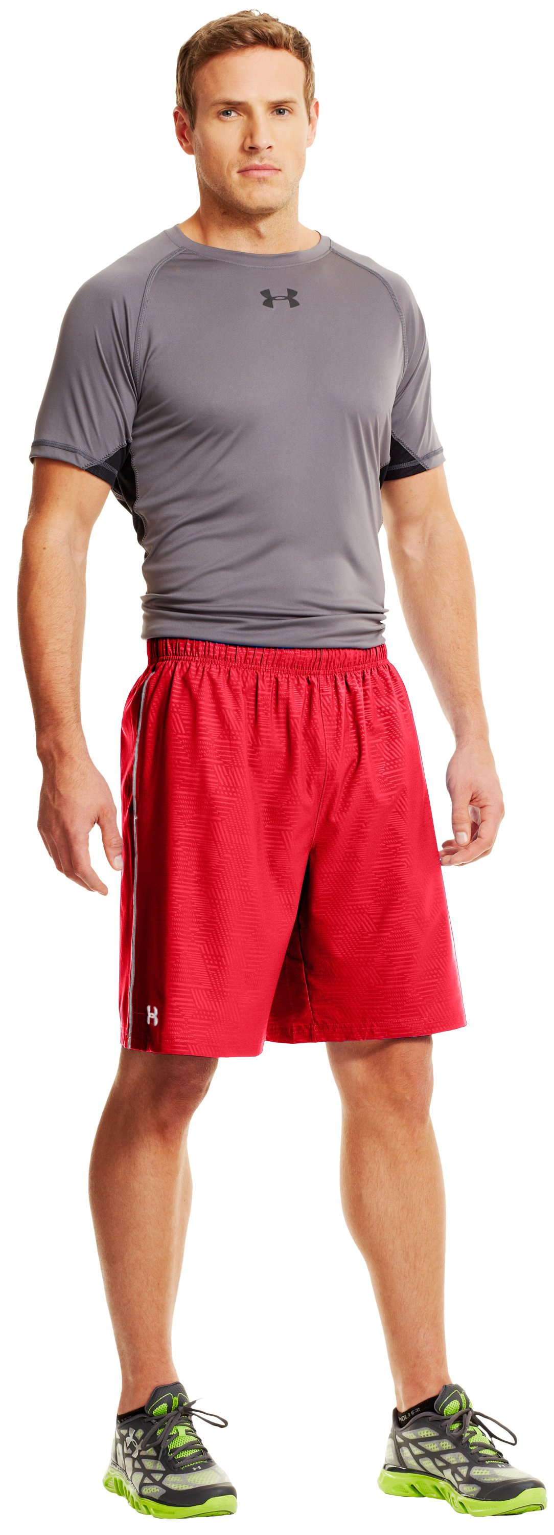 "Men's UA Mirage Printed 10"" Shorts, Red, undefined"