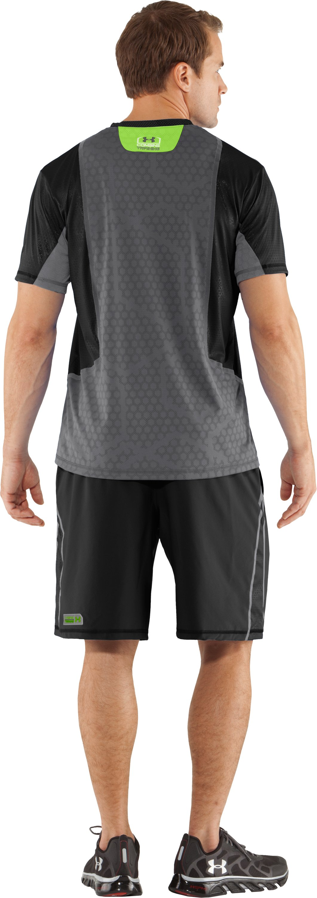 Men's UA Combine® Training Accelerant T-Shirt, Black , Back