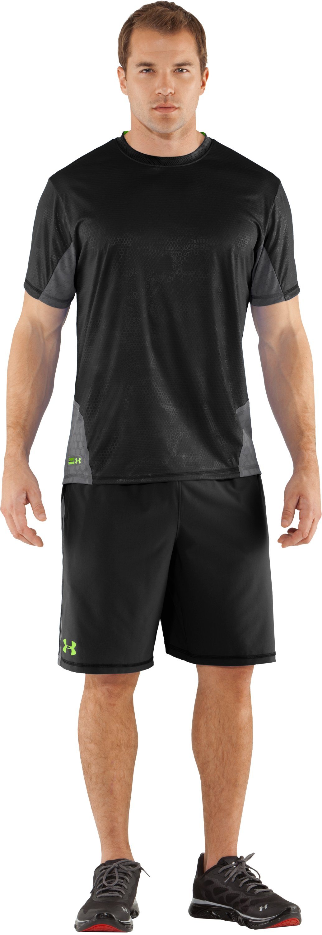 Men's UA Combine® Training Accelerant T-Shirt, Black , zoomed image