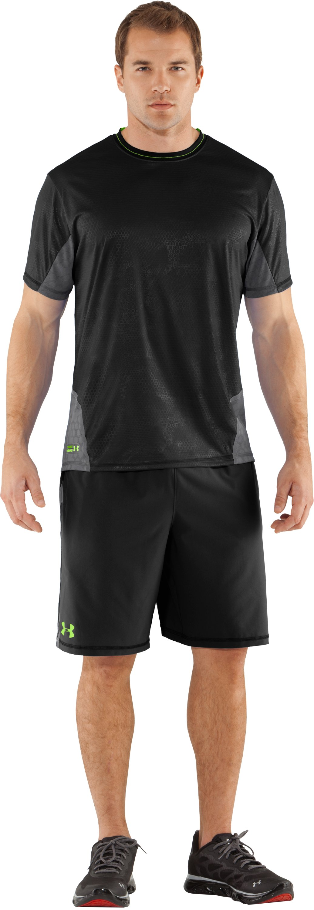Men's UA Combine® Training Accelerant Shorts, Black , Front