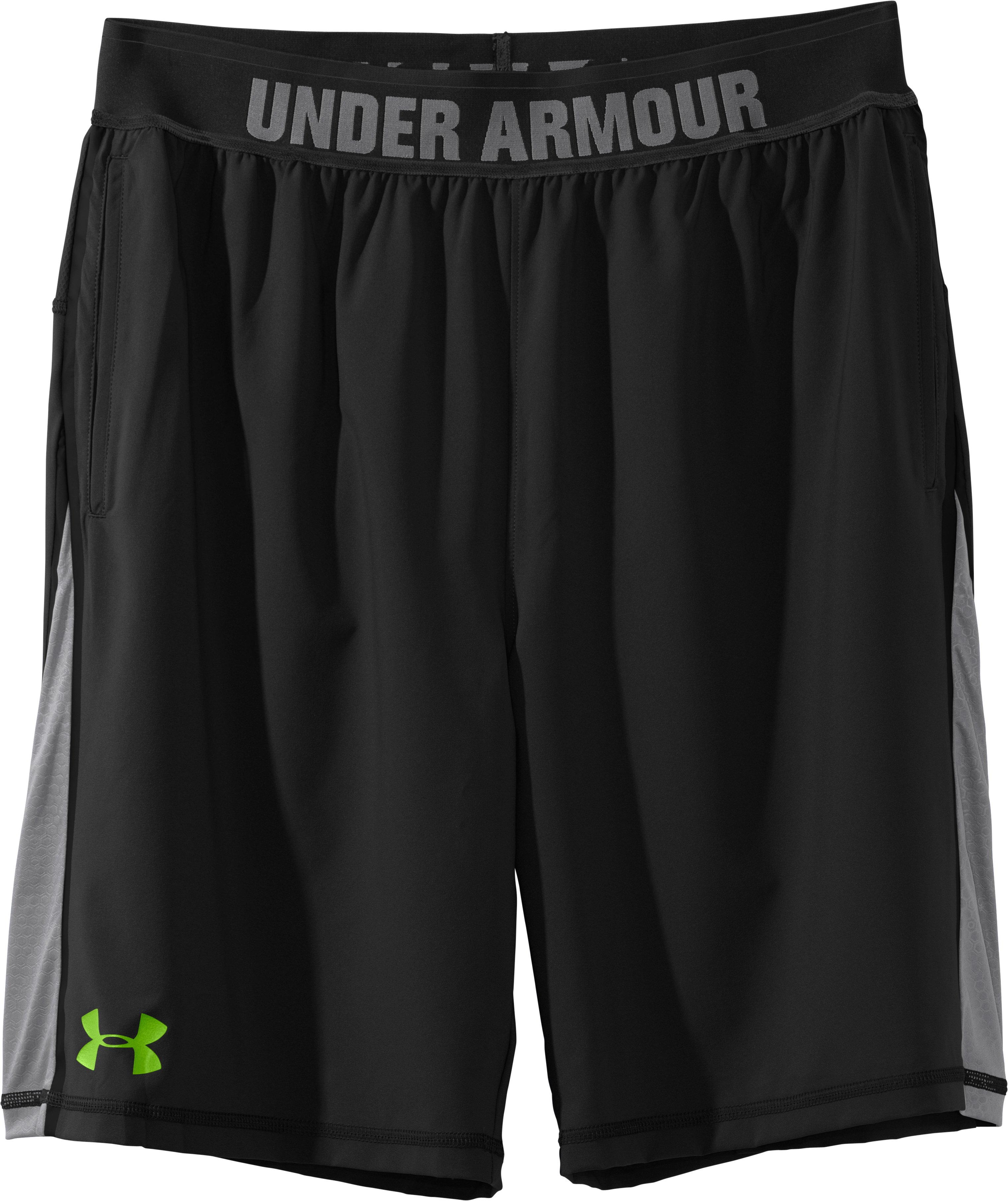 Men's UA Combine® Training Accelerant Shorts, Black , Laydown