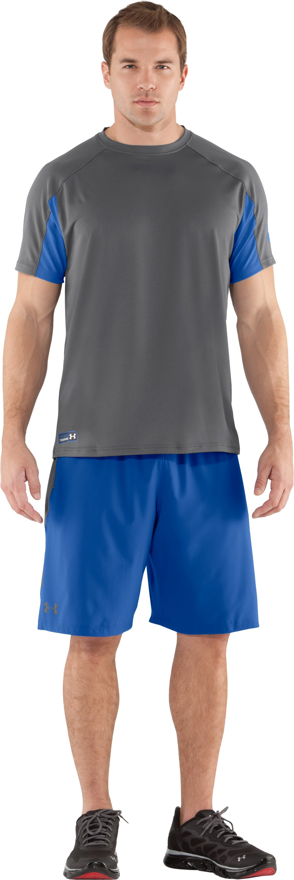 Men's UA Combine® Training Velocity Short Sleeve, Graphite