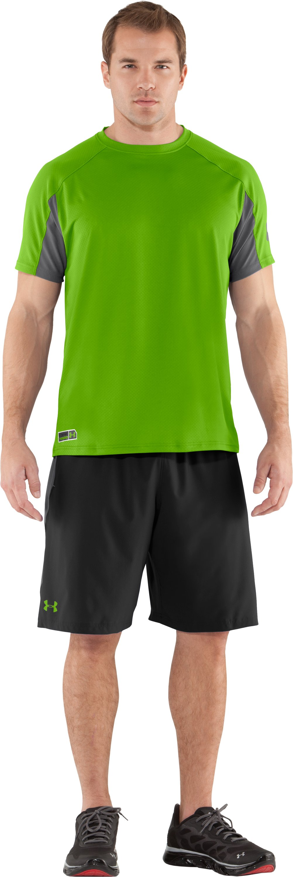 Men's UA Combine® Training Velocity Shorts, Black , Front