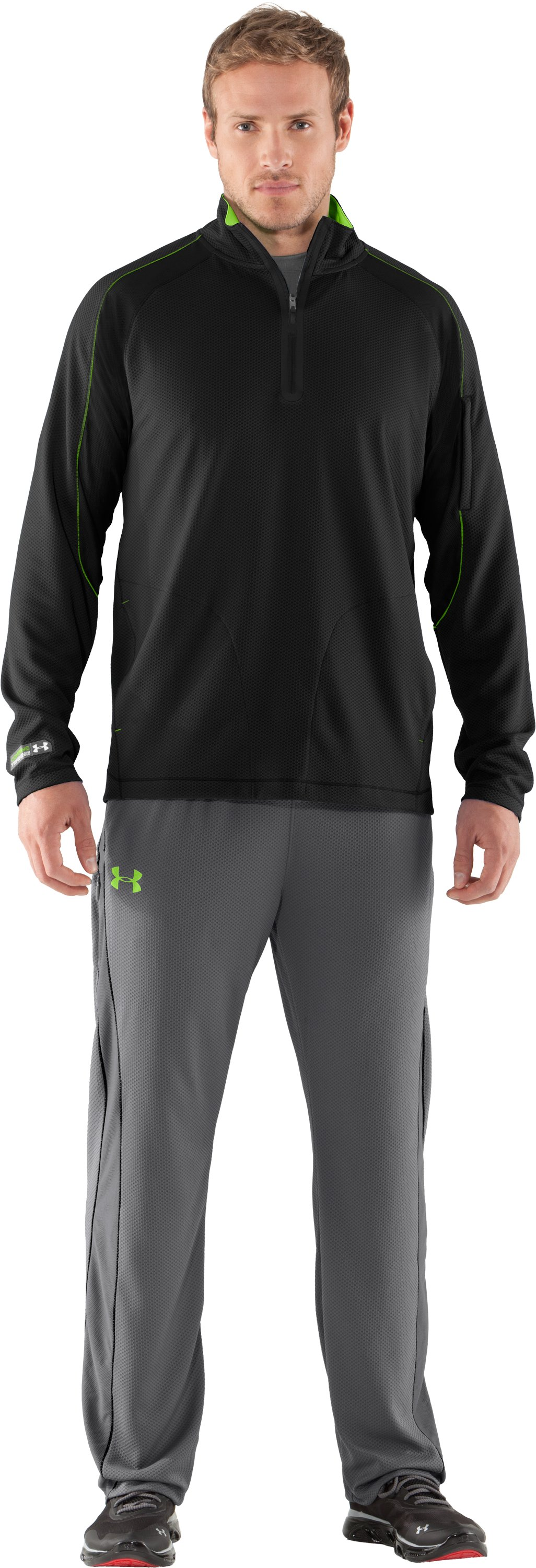 Men's UA Combine® Training Velocity Warm-Up ¼ Zip, Black