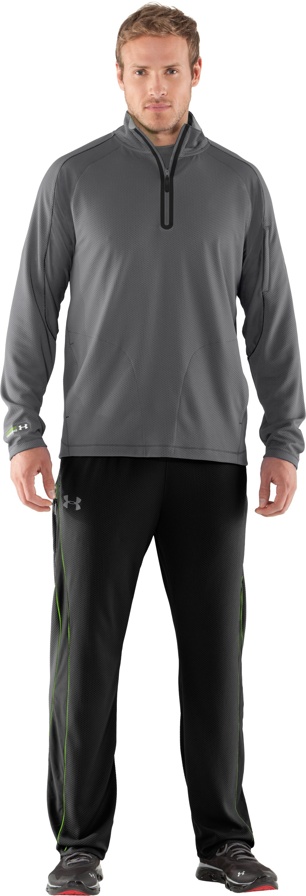Men's UA Combine® Training Velocity Warm-Up ¼ Zip, Graphite, Front