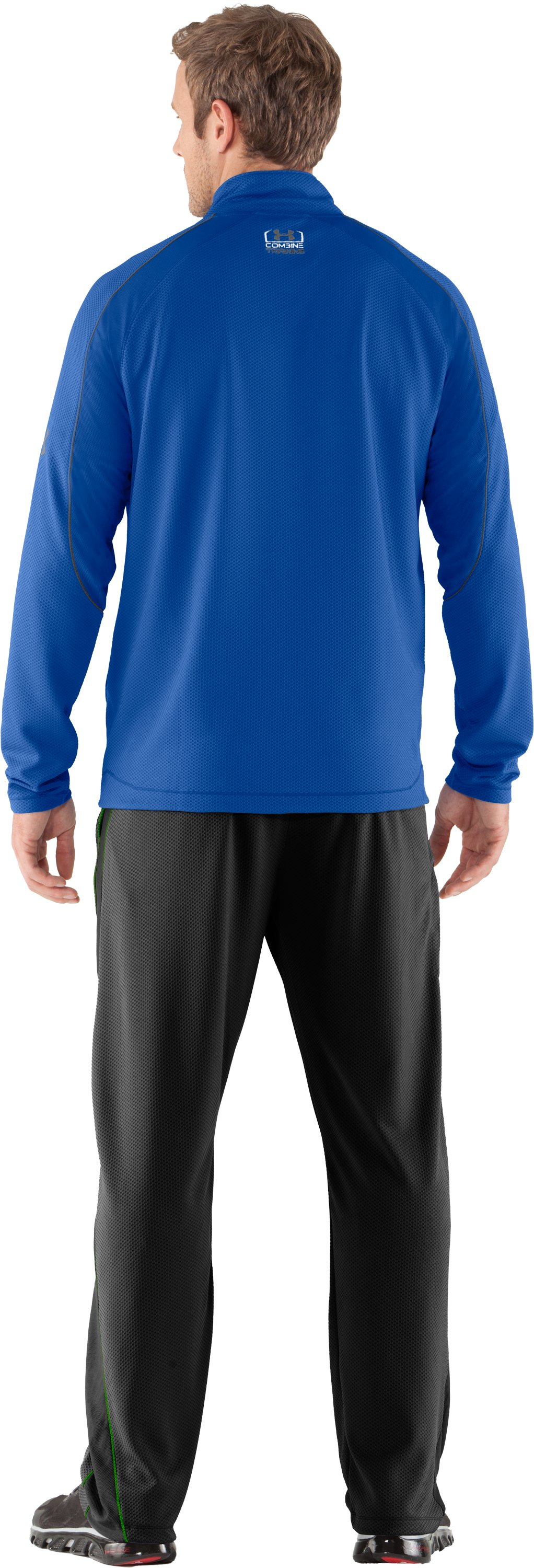 Men's UA Combine® Training Velocity Warm-Up ¼ Zip, Moon Shadow, Back