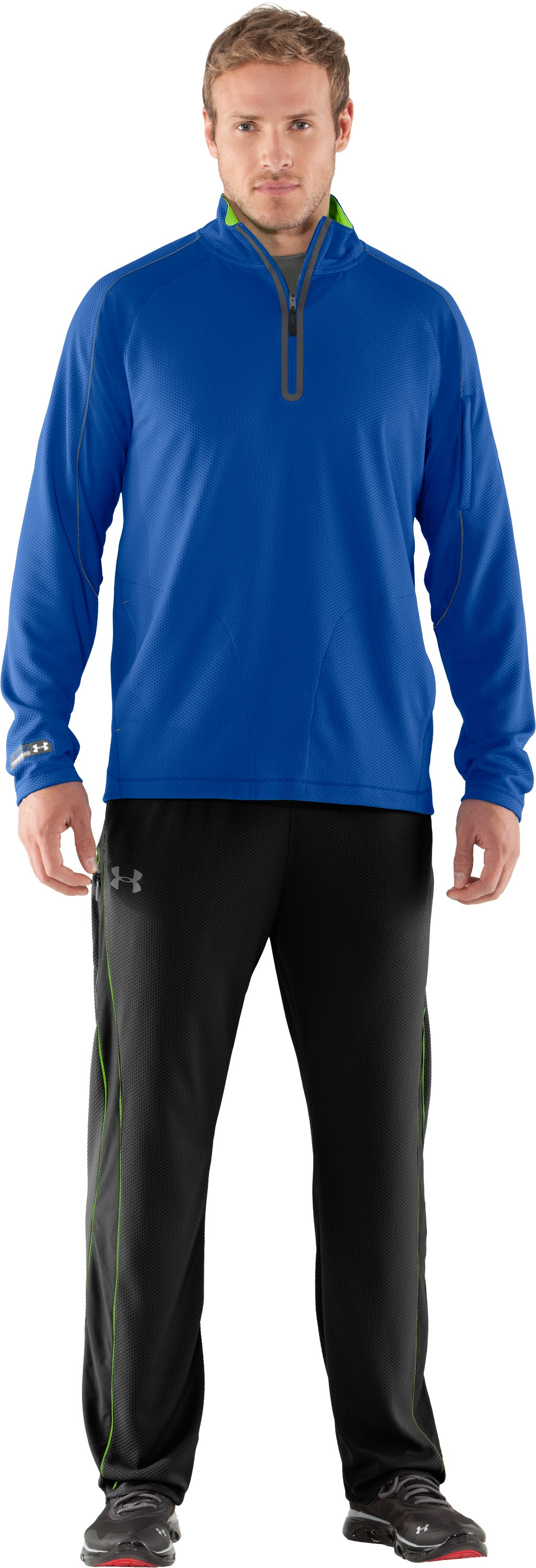 Men's UA Combine® Training Velocity Warm-Up ¼ Zip, Moon Shadow, Front